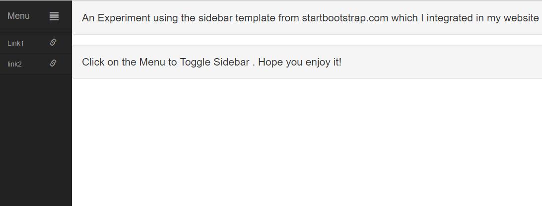 Bootstrap可伸缩的菜单边栏的实现方法