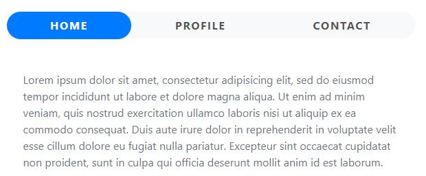 Bootstrap 4 tabs组件加强美化